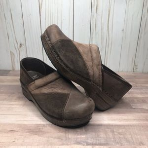 Dansko Brown Leather Mule Clog Size 39